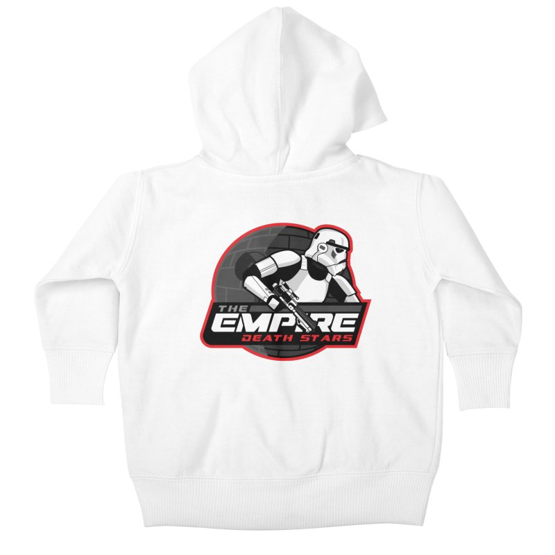 The Empire Death Stars Kids Baby Zip-Up Hoody by Chicago Bruise Brothers Roller Derby