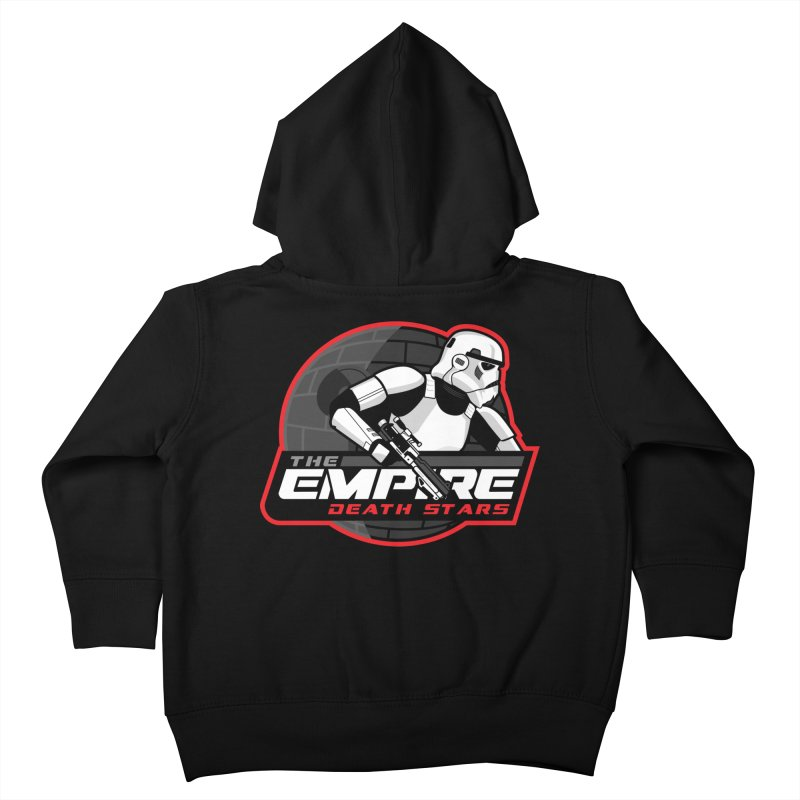 The Empire Death Stars Kids Toddler Zip-Up Hoody by Chicago Bruise Brothers Roller Derby