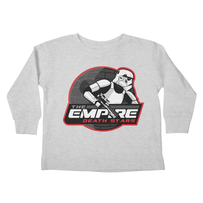 The Empire Death Stars Kids Toddler Longsleeve T-Shirt by Chicago Bruise Brothers Roller Derby