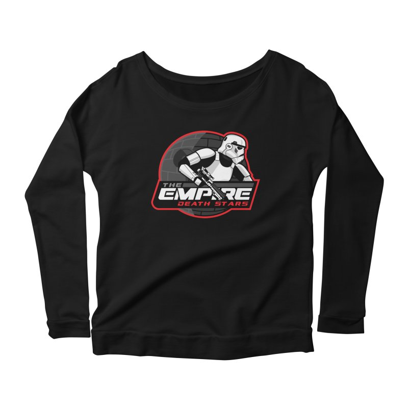 The Empire Death Stars Women's Scoop Neck Longsleeve T-Shirt by Chicago Bruise Brothers Roller Derby