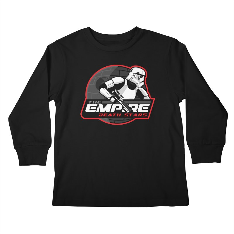 The Empire Death Stars Kids Longsleeve T-Shirt by Chicago Bruise Brothers Roller Derby