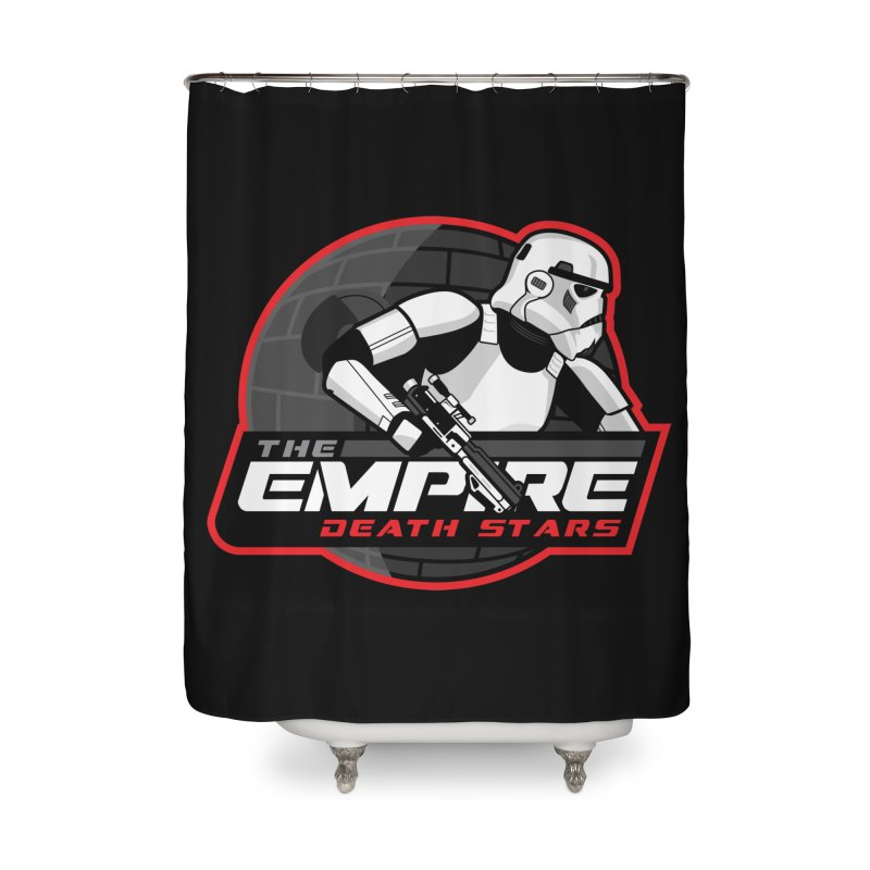 The Empire Death Stars Home Shower Curtain by Chicago Bruise Brothers Roller Derby
