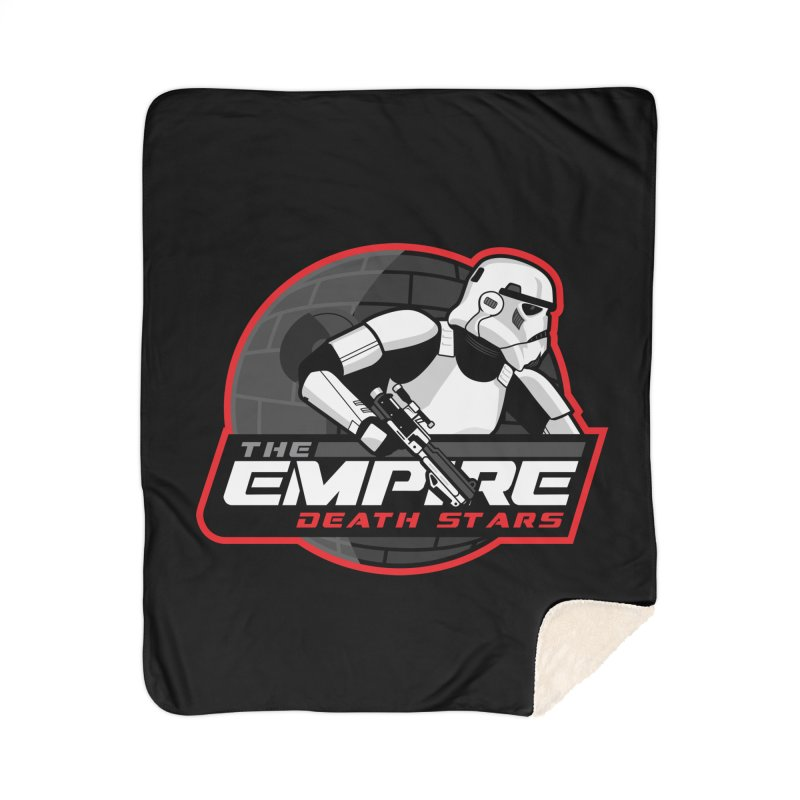 The Empire Death Stars Home Sherpa Blanket Blanket by Chicago Bruise Brothers Roller Derby