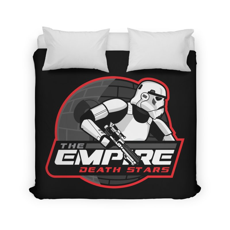 The Empire Death Stars Home Duvet by Chicago Bruise Brothers Roller Derby