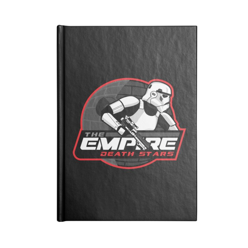 The Empire Death Stars Accessories Blank Journal Notebook by Chicago Bruise Brothers Roller Derby