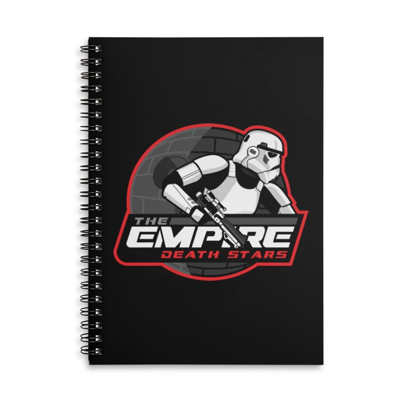 The Empire Death Stars Accessories Lined Spiral Notebook by Chicago Bruise Brothers Roller Derby
