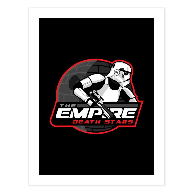 The Empire Death Stars Home Fine Art Print by Chicago Bruise Brothers Roller Derby
