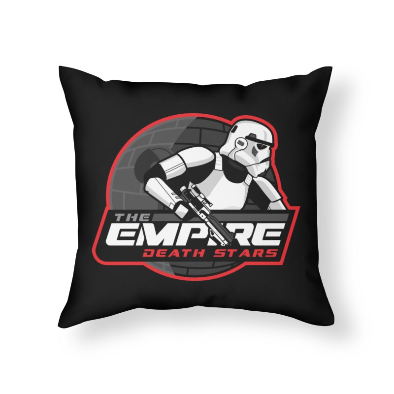 The Empire Death Stars Home Throw Pillow by Chicago Bruise Brothers Roller Derby