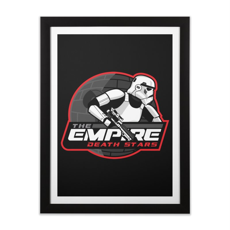 The Empire Death Stars Home Framed Fine Art Print by Chicago Bruise Brothers Roller Derby