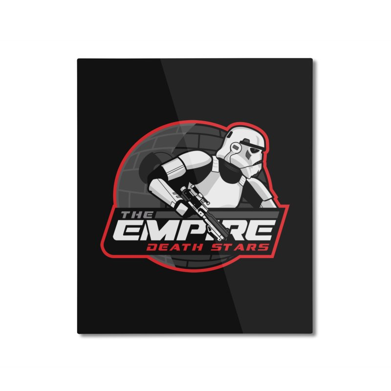 The Empire Death Stars Home Mounted Aluminum Print by Chicago Bruise Brothers Roller Derby