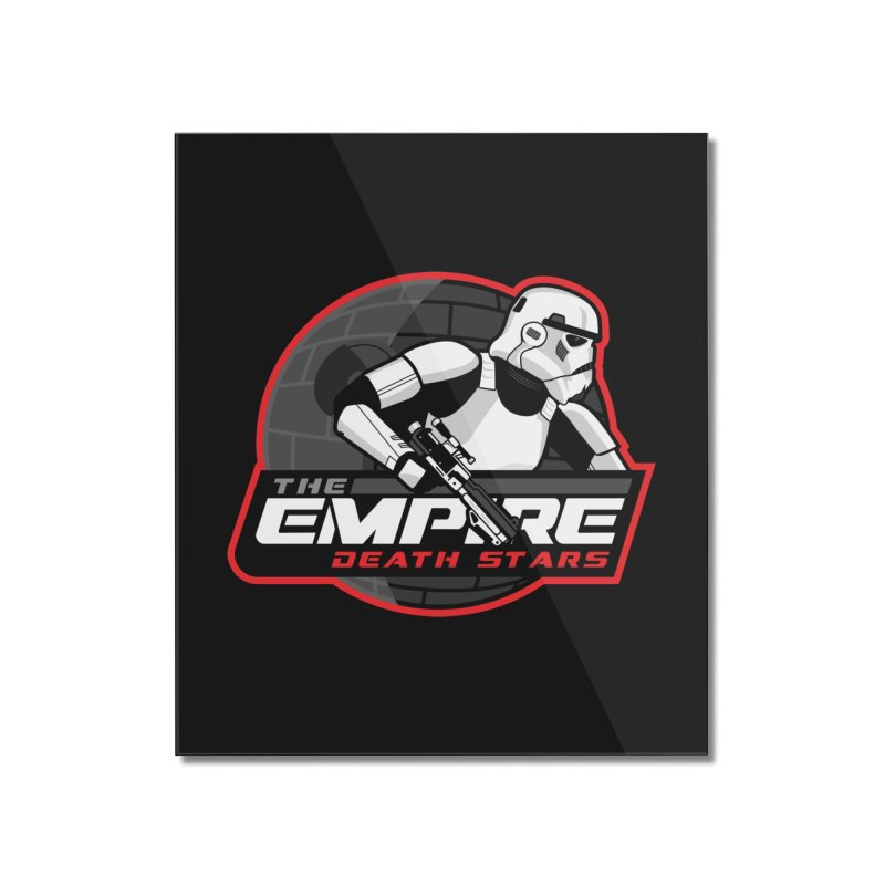 The Empire Death Stars Home Mounted Acrylic Print by Chicago Bruise Brothers Roller Derby