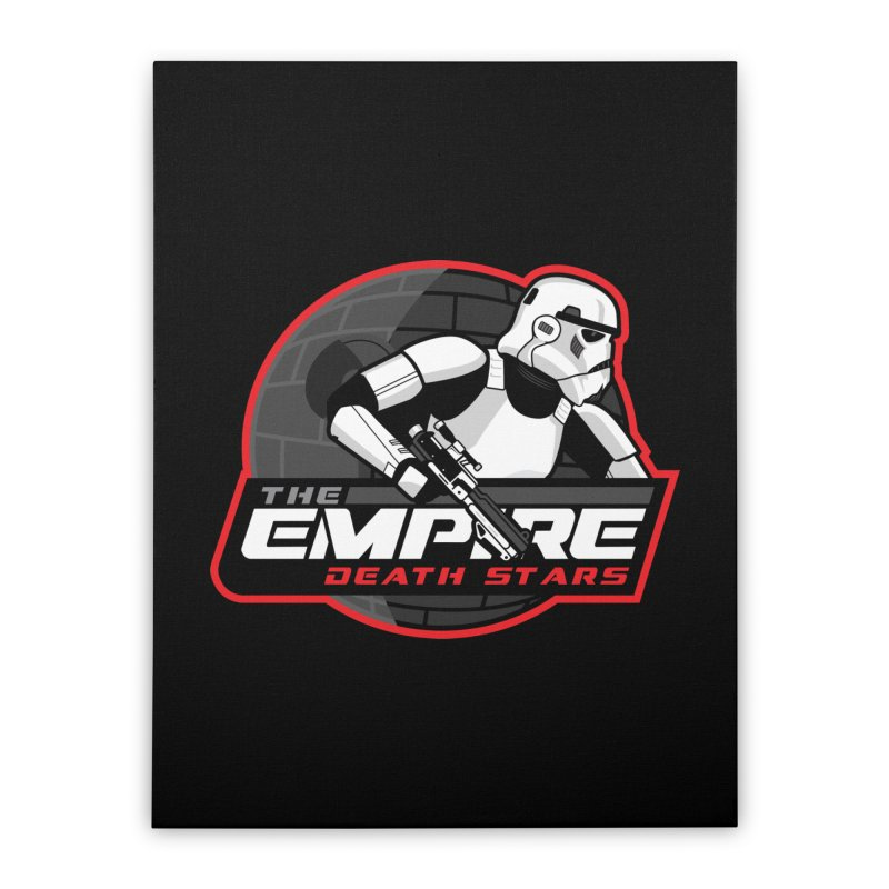 The Empire Death Stars Home Stretched Canvas by Chicago Bruise Brothers Roller Derby