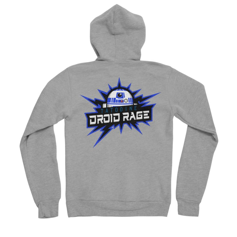 Tatooine Droid Rage Men's Sponge Fleece Zip-Up Hoody by Chicago Bruise Brothers Roller Derby