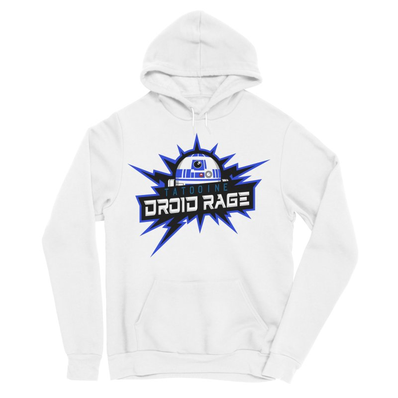 Tatooine Droid Rage Men's Sponge Fleece Pullover Hoody by Chicago Bruise Brothers Roller Derby