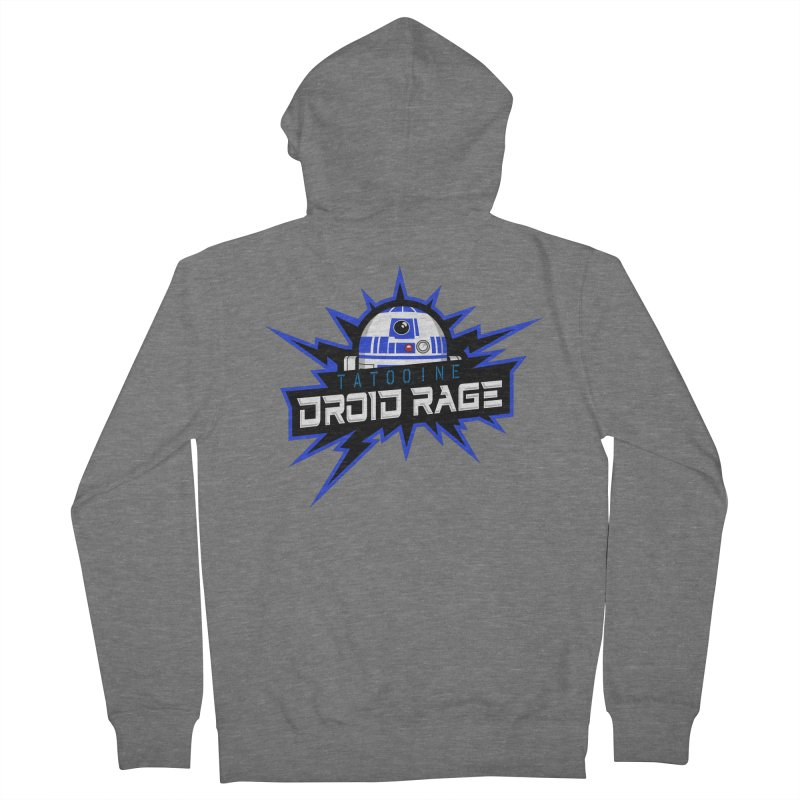 Tatooine Droid Rage Men's French Terry Zip-Up Hoody by Chicago Bruise Brothers Roller Derby