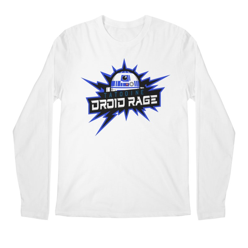 Tatooine Droid Rage Men's Regular Longsleeve T-Shirt by Chicago Bruise Brothers Roller Derby