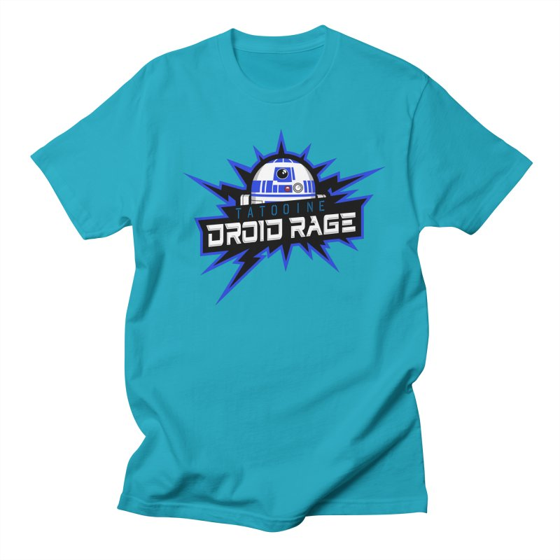 Tatooine Droid Rage Men's Regular T-Shirt by Chicago Bruise Brothers Roller Derby