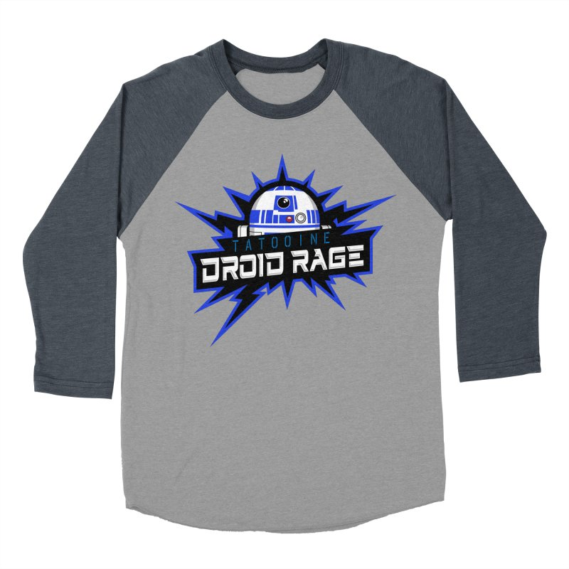 Tatooine Droid Rage Women's Baseball Triblend Longsleeve T-Shirt by Chicago Bruise Brothers Roller Derby