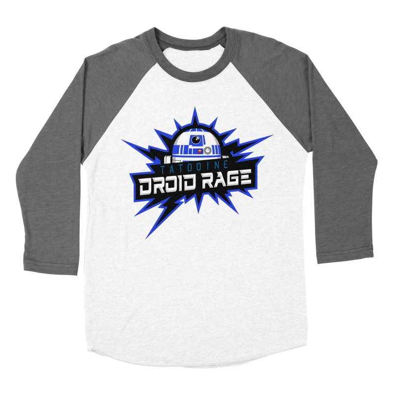 Tatooine Droid Rage Men's Baseball Triblend Longsleeve T-Shirt by Chicago Bruise Brothers Roller Derby