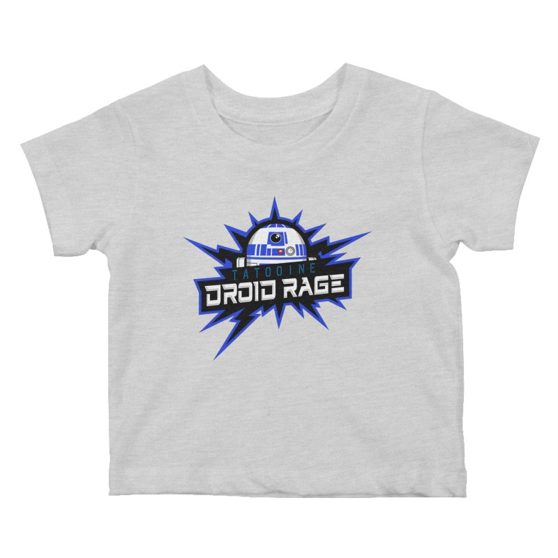 Tatooine Droid Rage Kids Baby T-Shirt by Chicago Bruise Brothers Roller Derby
