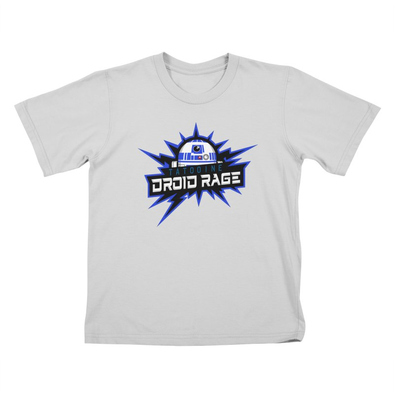 Tatooine Droid Rage Kids T-Shirt by Chicago Bruise Brothers Roller Derby