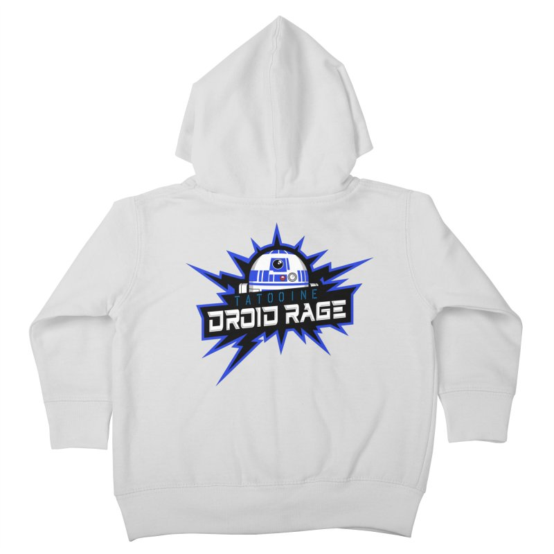 Tatooine Droid Rage Kids Toddler Zip-Up Hoody by Chicago Bruise Brothers Roller Derby