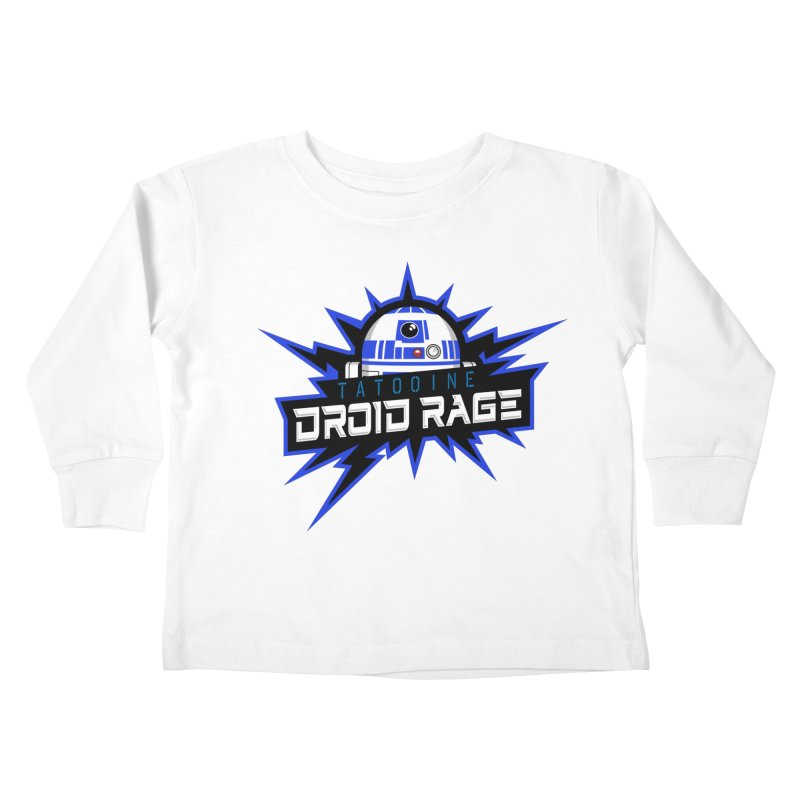 Tatooine Droid Rage Kids Toddler Longsleeve T-Shirt by Chicago Bruise Brothers Roller Derby