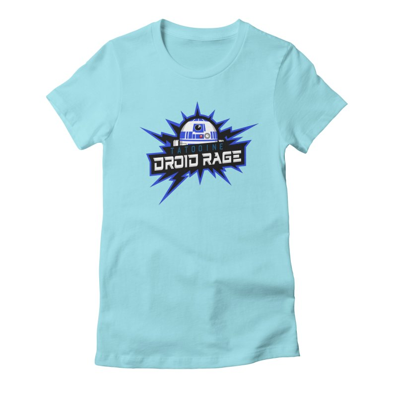 Tatooine Droid Rage Women's Fitted T-Shirt by Chicago Bruise Brothers Roller Derby