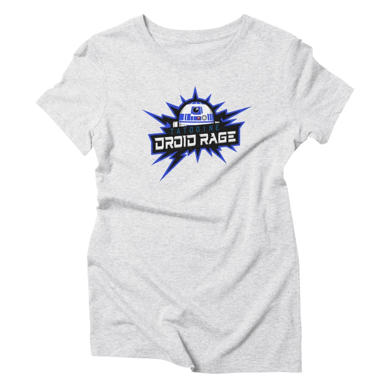 Tatooine Droid Rage Women's Triblend T-Shirt by Chicago Bruise Brothers Roller Derby