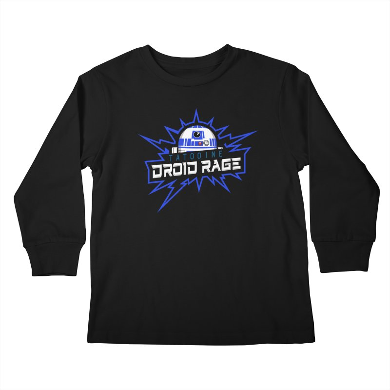 Tatooine Droid Rage Kids Longsleeve T-Shirt by Chicago Bruise Brothers Roller Derby
