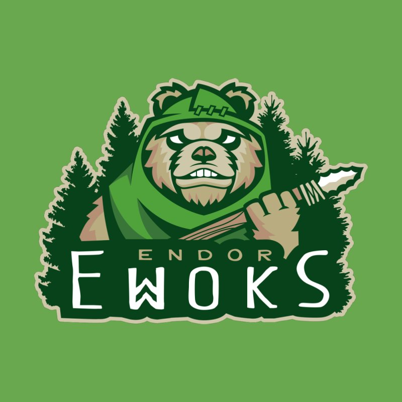 Endor Ewoks Men's T-Shirt by Chicago Bruise Brothers Roller Derby