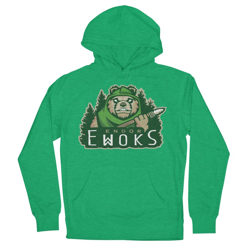 Endor Ewoks Women's French Terry Pullover Hoody by Chicago Bruise Brothers Roller Derby