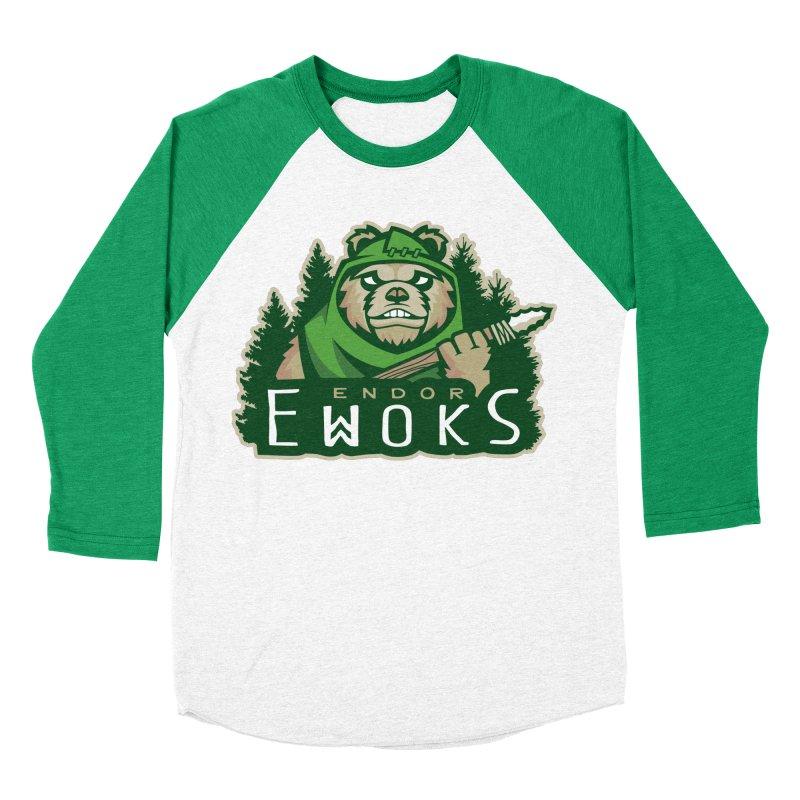Endor Ewoks Women's Baseball Triblend Longsleeve T-Shirt by Chicago Bruise Brothers Roller Derby