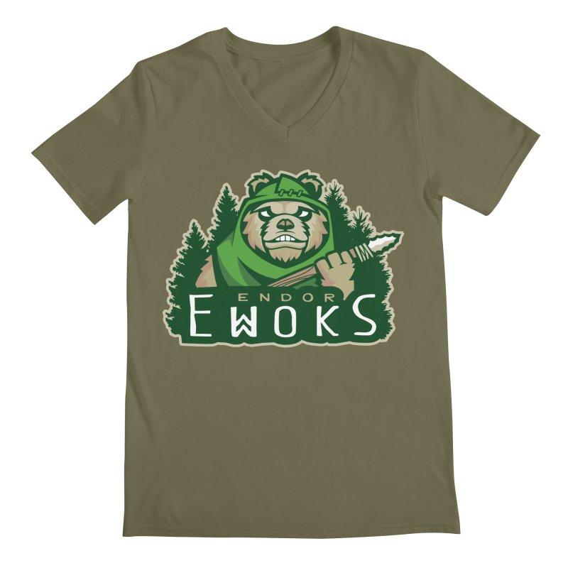 Endor Ewoks Men's Regular V-Neck by Chicago Bruise Brothers Roller Derby