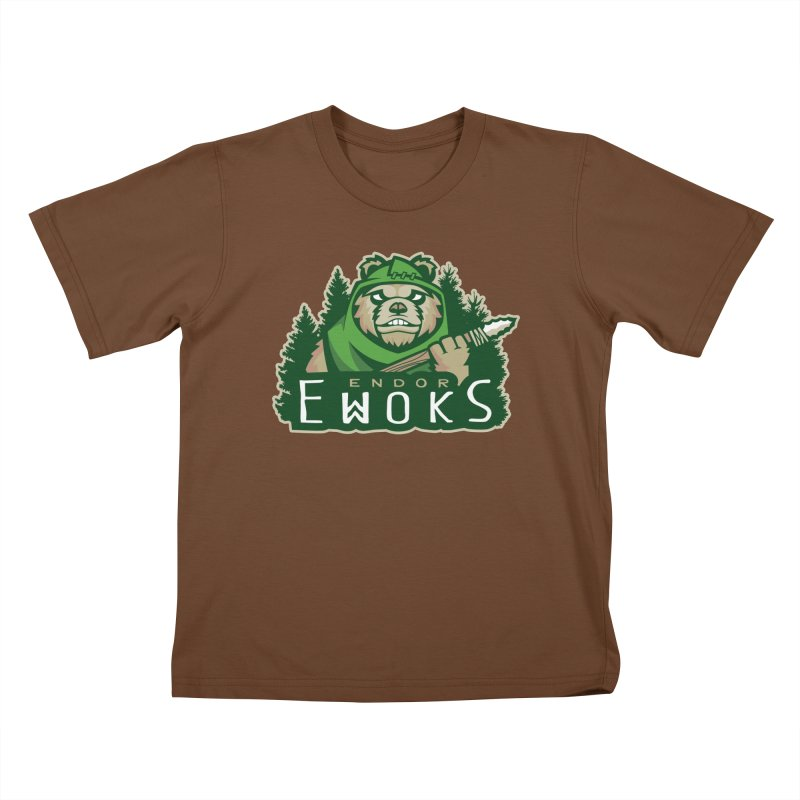 Endor Ewoks Kids T-Shirt by Chicago Bruise Brothers Roller Derby