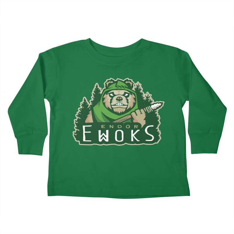 Endor Ewoks Kids Toddler Longsleeve T-Shirt by Chicago Bruise Brothers Roller Derby