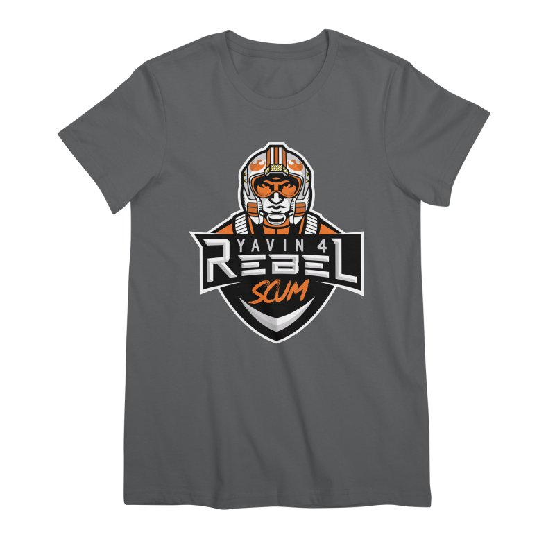 Yavin 4 Rebel Scum Women's Premium T-Shirt by Chicago Bruise Brothers Roller Derby