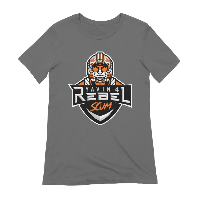Yavin 4 Rebel Scum Women's Extra Soft T-Shirt by Chicago Bruise Brothers Roller Derby