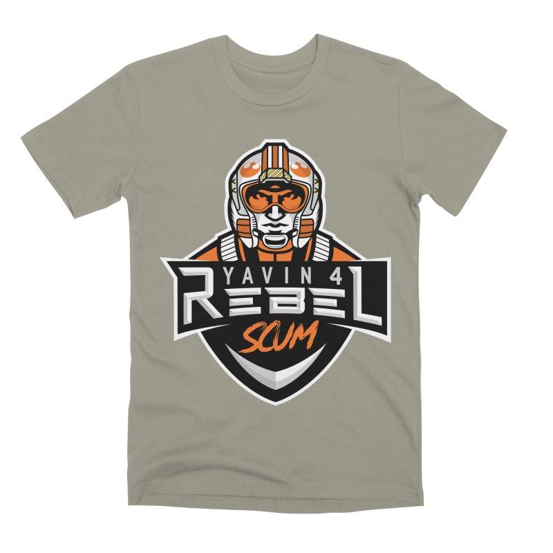 Yavin 4 Rebel Scum Men's Premium T-Shirt by Chicago Bruise Brothers Roller Derby