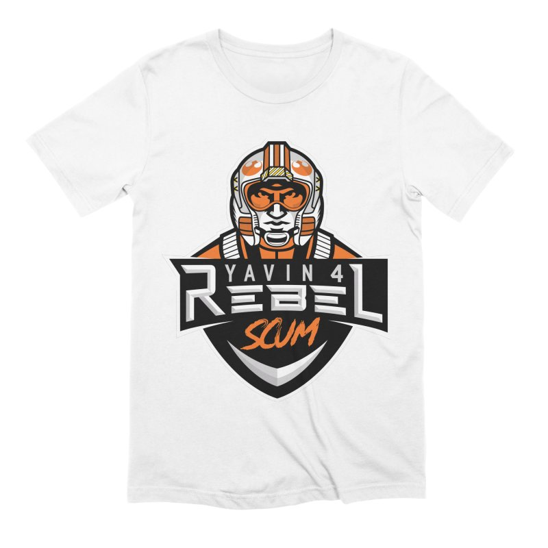 Yavin 4 Rebel Scum Men's Extra Soft T-Shirt by Chicago Bruise Brothers Roller Derby