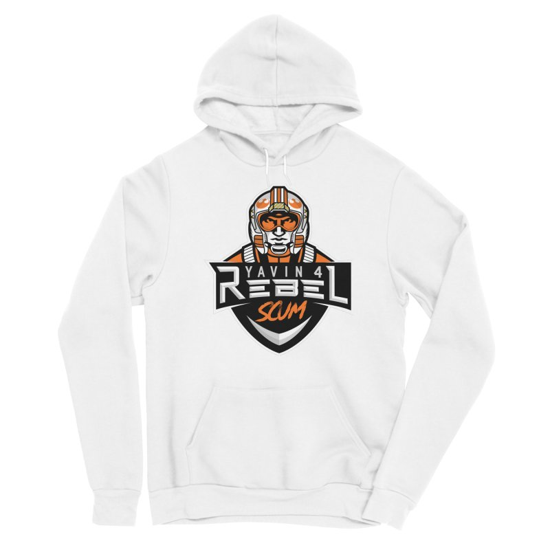 Yavin 4 Rebel Scum Men's Pullover Hoody by Chicago Bruise Brothers Roller Derby