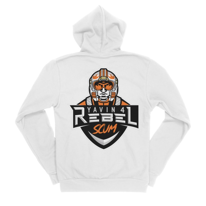 Yavin 4 Rebel Scum Men's Zip-Up Hoody by Chicago Bruise Brothers Roller Derby