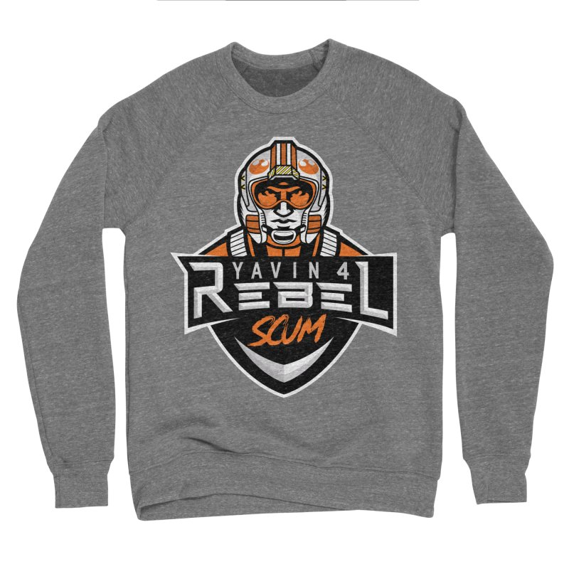 Yavin 4 Rebel Scum Women's Sponge Fleece Sweatshirt by Chicago Bruise Brothers Roller Derby