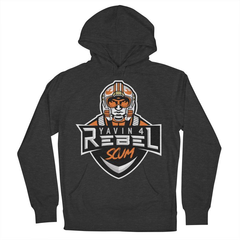 Yavin 4 Rebel Scum Women's French Terry Pullover Hoody by Chicago Bruise Brothers Roller Derby