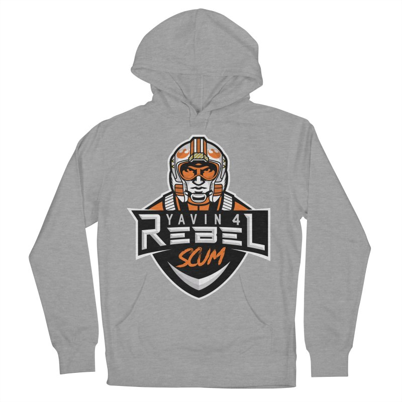 Yavin 4 Rebel Scum Men's French Terry Pullover Hoody by Chicago Bruise Brothers Roller Derby