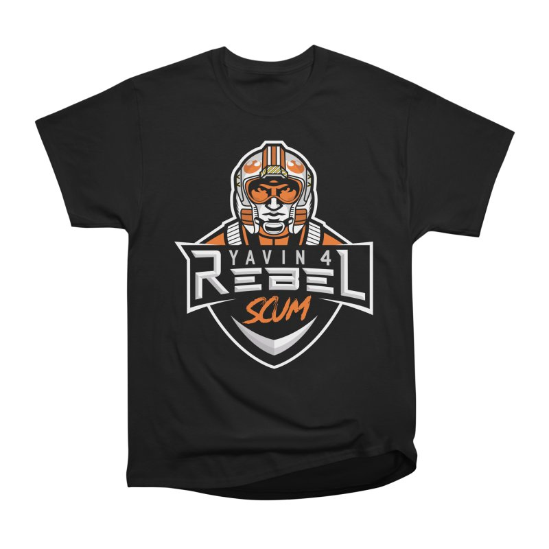 Yavin 4 Rebel Scum Men's Heavyweight T-Shirt by Chicago Bruise Brothers Roller Derby