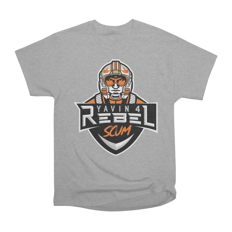 Yavin 4 Rebel Scum Men's Heavyweight T-Shirt by Chicago Bruise Brothers Roller Derby