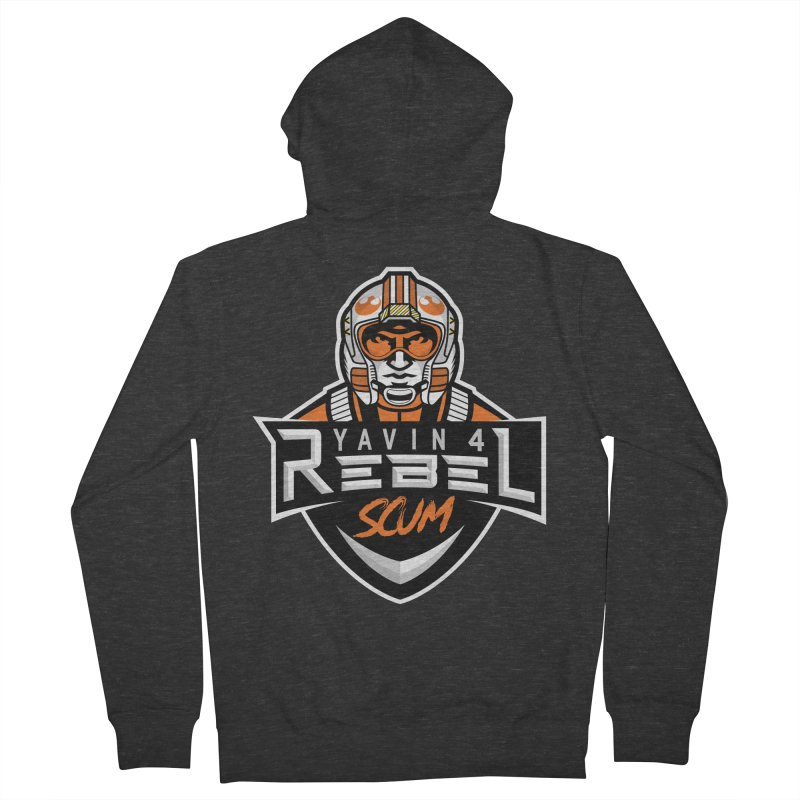 Yavin 4 Rebel Scum Men's French Terry Zip-Up Hoody by Chicago Bruise Brothers Roller Derby