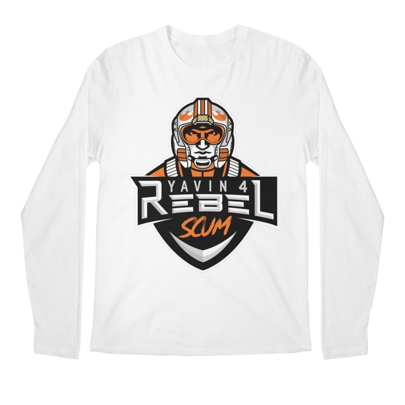Yavin 4 Rebel Scum Men's Regular Longsleeve T-Shirt by Chicago Bruise Brothers Roller Derby