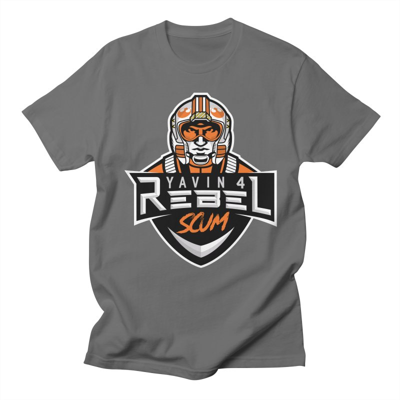 Yavin 4 Rebel Scum Men's T-Shirt by Chicago Bruise Brothers Roller Derby